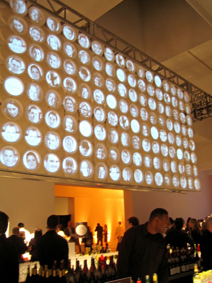 I went to <i>New York</i> Magazine's Taste of New York event. David Rockwell (he's everywhere) did the most wonderful installation, projecting the faces of the participating chefs onto a panel that was suspended over the bar area.