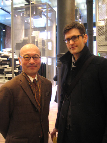 Here's the divine Harold Koda, curator in charge of the Costume Institute at the Metropolitan Museum of Art, with <i>Vogue</i> writer Mark Holgate.
