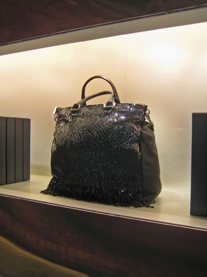 You can't go to a Prada store and not fall in love with a bag. I must admit that my dormant fashion lust was reignited with this visit.