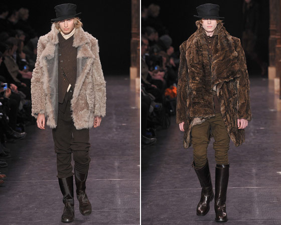 The warm, cozy outerwear at Ann Demeulemeester.