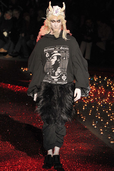 John Galliano adds fur to your quads.