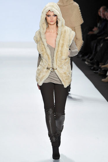 A nice but boring fur vest.