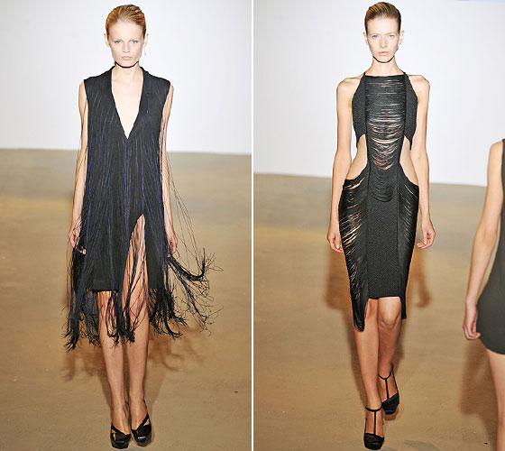 Fringe hit the runways in a big way. Think flapper instead of hippie. Jil Sander's take was sexy and fun.