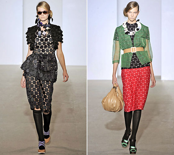 Marni infused the catwalks with much-needed color after the beigefest in New York. The collection also gave us an interesting play on patterns and textures.