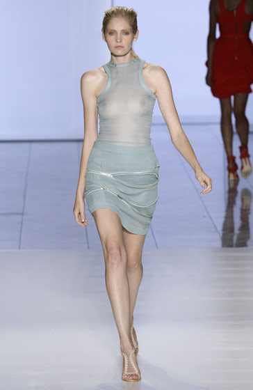 Preen's look is tight, sexy, and showing it all.