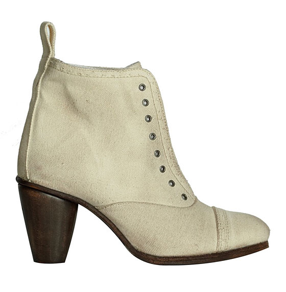 Natural Canvas Slip boots, $225.