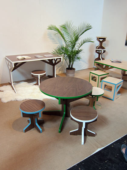 Wonderful classic-but-fun kids' furniture by April Hannah. This was another strong year for Brooklyn Designs — it seems to get better each time — and a great preface to the flurry of Manhattan activity the following week.