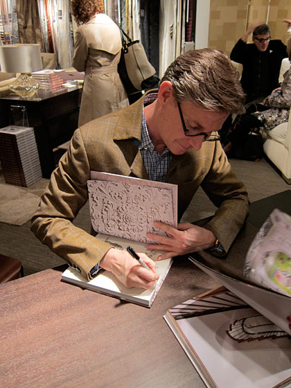 Matthew White signed copies of his unique new book, <em>Italy of My Dreams</em>, at Donghia. The book is so beautiful and charming; it magically illustrates how one man's passion for Italian design informed his entire sensibility.