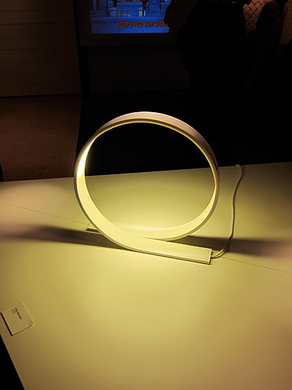 This beautiful Loop LED light by Timo Niskanen was one of the many wonderful creations featured at the New Finnish Design show.