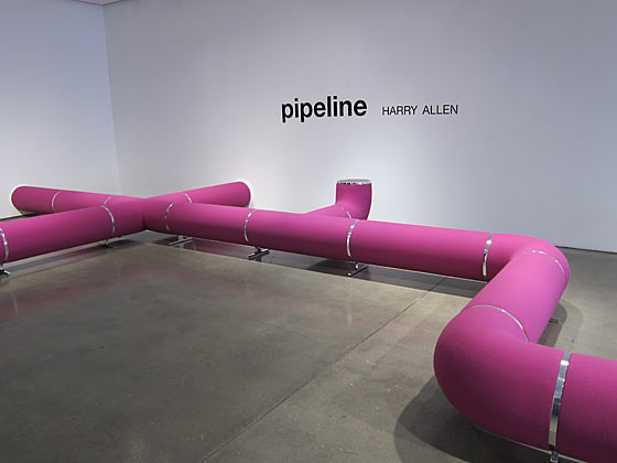 Dune had a show of new work by contemporary furniture artists. I loved Harry Allen's Pipeline.