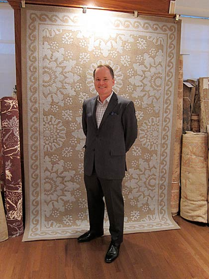 Matthew Patrick Smyth also showed a new collection of carpets at Patterson, Flynn & Martin.