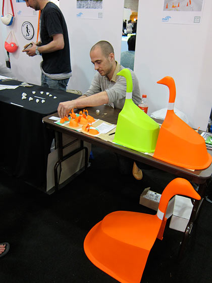 Michael Savona was at the Design Mart at the Javits doing great business with his geese cones.