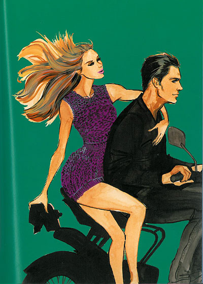 "While studying abroad, Smith bought this purple crocheted minidress at a market stall in Corfu, and wore it for a Vespa ride with her ""handsome friend"" Philip, one of many ""handsome friends"" to appear in the book."