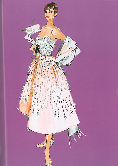 This fifties creation is the work of Ceil Chapman, said to be Marilyn Monroe's favorite designer.