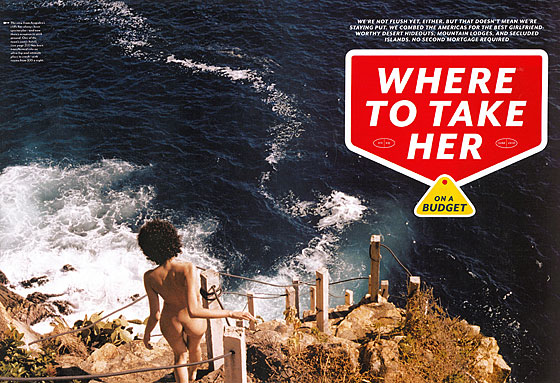 Yes, women are <em>dying</em> for their men to take them on a vacation so they can risk plummeting — naked — down a rocky cliff face.