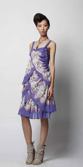 Rope floral tiered dress, $432.
