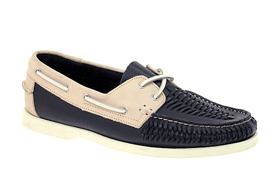 "YMC Basic Weave deck shoes, $186 <a href=""http://www.asos.com/Ymc-Basic/Ymc-Basic-Weave-Deck-Shoes/Prod/pgeproduct.aspx?iid=982284&cid=4209&sh=0&pge=3&pgesize=200&sort=-1&clr=Navy%2fCream"">online</a>."