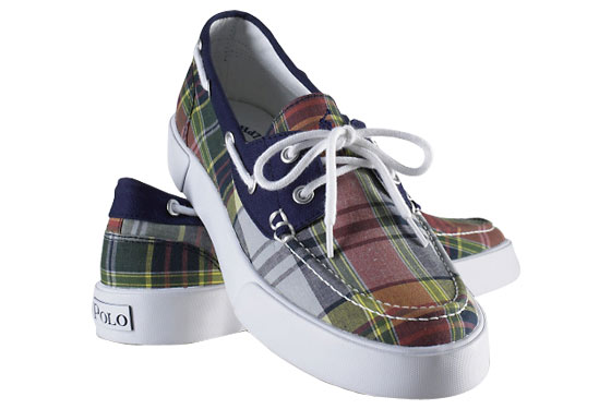 "Polo Ralph Lauren Lander canvas deck shoes, $55 <a href=""http://www.ralphlauren.com/product/index.jsp?productId=3882897&cp=1760781.1898623&ab=viewall&view=all&parentPage=family"">online</a>."