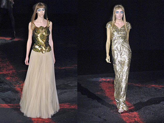 Alexander McQueen Dresses Fail to Sell at Auction