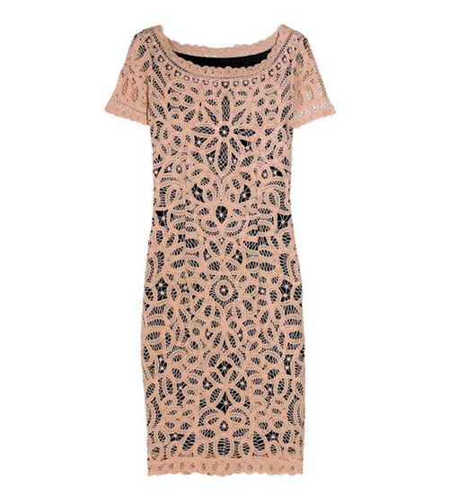 "Catherine Malandrino cotton-lace sheath dress, $314 <a href=""http://www.theoutnet.com/product/92614?cm_mmc=LinkshareUS-_-Custom-_-Link-_-Builder&siteID=J84DHJLQkR4-PQlQBPOrJS3CJQGP0U6Nvg"">online</a>."