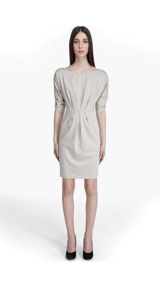 "Black Halo Faye sheath dress, $345 <a href=""http://www.ssense.com/women/product/black_halo/faye_sheath/24993"">online</a>."