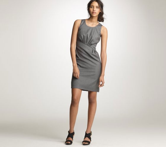 "J. Crew Super 120s Naeva dress, $188 <a href=""http://www.jcrew.com/AST/Browse/WomenBrowse/Women_Shop_By_Category/dresses/suitingdresses/PRDOVR~26864/26864.jsp"">online</a>."