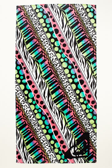 "Roxy Feeling Stoked beach towel, $28 <a href=""http://www.roxy.com/product/index.jsp?productId=4039099"">online</a>."