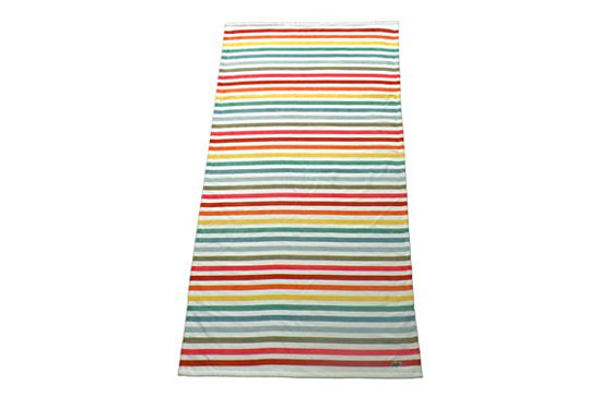 "Lacoste Sunrise beach towel, $29.99 at <a href=""http://nymag.com/listings/stores/bloomingdales01/"">Bloomingdale's</a> or <a href=""http://www1.bloomingdales.com/catalog/product/index.ognc?ID=466994&CategoryID=15577"">online</a>."