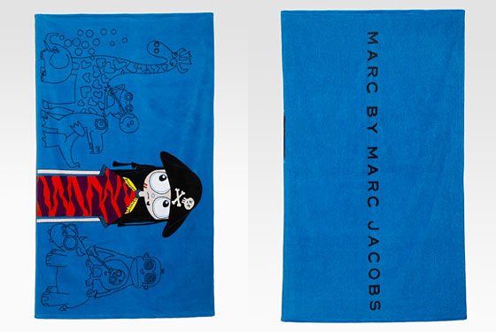 "Marc by Marc Jacobs Miss Marc beach towel, $48 <a href=""http://www.saksfifthavenue.com/main/ProductDetail.jsp?FOLDER%3C%3Efolder_id=282574492708007&PRODUCT%3C%3Eprd_id=845524446252074&R=883936384754&P_name=Marc+by+Marc+Jacobs&sid=12974949F2A6&bmUID=1277561184873"">online</a>."