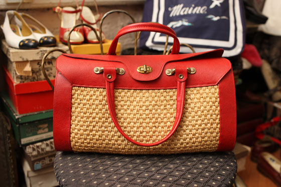 <strong>Three-section handbag with exterior brass hardware, $85</strong><br>