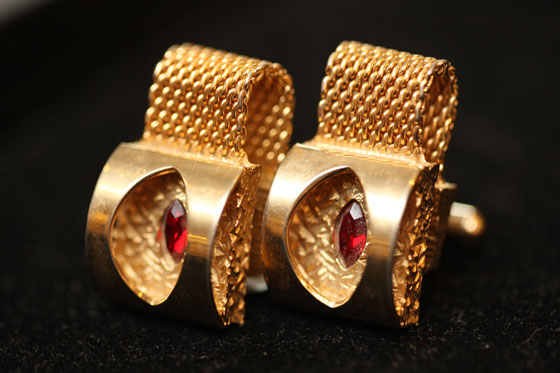 <strong>Wraparound cufflinks, $45</strong><br>