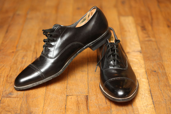 <strong>Cap-toe leather shoes, $150</strong><br>