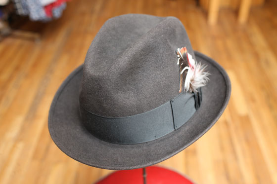 <strong>Men's fedora, $25</strong><br>