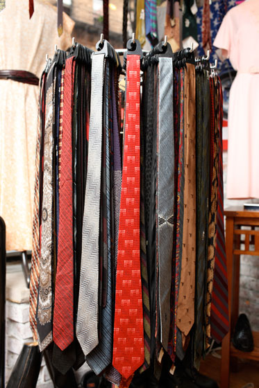 <strong>Skinny ties, $25 each</strong><br>