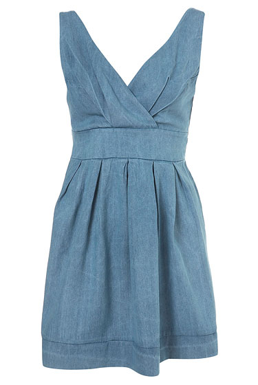 "Love Denim Pinafore dress, $68 at <a href=""http://nymag.com/listings/stores/topshop/"">Topshop</a> and <a href=""http://us.topshop.com/webapp/wcs/stores/servlet/ProductDisplay?beginIndex=0&viewAllFlag=&catalogId=32051&storeId=13052&productId=1782378&langId=-1&categoryId=&parent_category_rn="">online</a>."