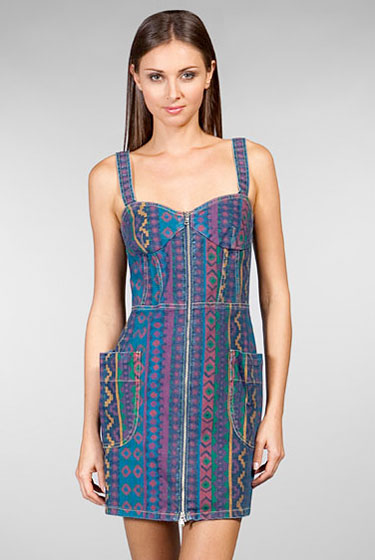 "Marc by Marc Jacobs Diamond denim zipper dress, $147 <a href=""http://www.revolveclothing.com/DisplayProduct.jsp?product=MARC-WD18&c="">online</a>."