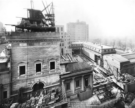 Construction of the Frick Collection commenced in April 1934.