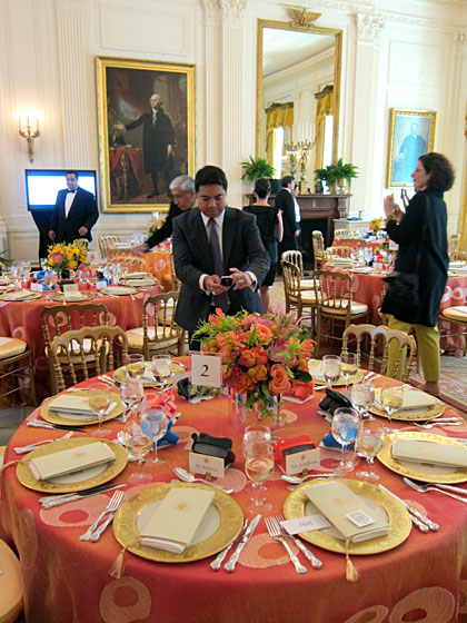 The luncheon itself took place in the East Room of the White House. Fortunately, we had a few moments to explore the historic public rooms before we were seated.