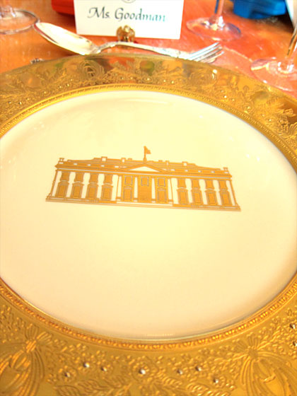 The White House plates before the first course was served.