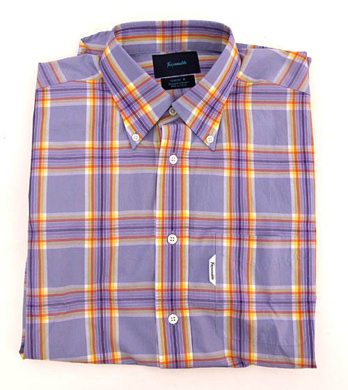 "Façonnable multicolor plaid shirt, $145 at <a href=""http://nymag.com/listings/stores/faconnable/"">Façonnable</a>."