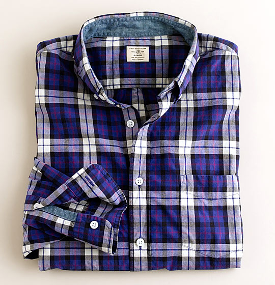 "J.Crew Secret Wash button-down shirt in Vens tartan, $59.50 <a href=""http://www.jcrew.com/AST/Browse/MensBrowse/Men_Shop_By_Category/shirts/washedfavoriteshirts/PRDOVR~28223/28223.jsp"">online</a>."