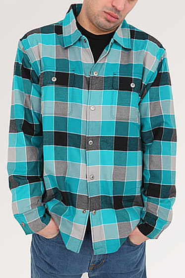 "Nike SB Apparel flannel in Tiffany Blue, $90 <a href=""http://blueandcream.com/m_Whats_New/NIKEF9-7.html"">online</a>."