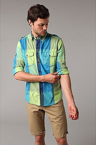 "Life/after/denim Cross Country roll-up shirt, $39.99 <a href=""http://www.urbanoutfitters.com/urban/catalog/productdetail.jsp?itemdescription=true&itemCount=80&startValue=1&selectedProductColor=&sortby=&id=18096404&parentid=M_APP_BUTTONDOWNSHIRTS&sortProperties=+subCategoryPosition,+product.marketingPriority&navCount=28&navAction=push&color=&pushId=M_APP_BUTTONDOWNSHIRTS&popId=M_TOPS&prepushId=&selectedProductSize="">online</a>."