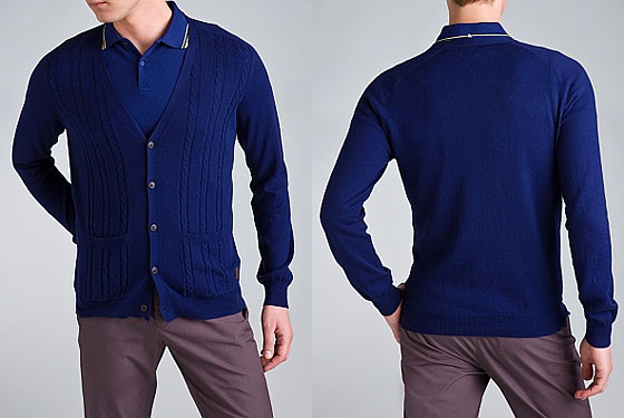 "Ben Sherman Signal sweater, $99 <a href=""http://www.benshermanusa.com/nshop/product.php?view=detail&productid=BE-MA3613M&startColor=&page=0&dept=mens&groupName=MensSweaters&both=yes"">online</a>."