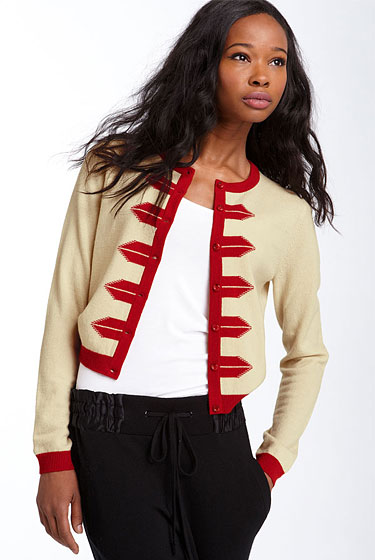 "Marc Jacobs cardigan, $228 <a href=""http://shop.nordstrom.com/S/3105605?origin=keywordsearch&resultback=0"">online</a>."