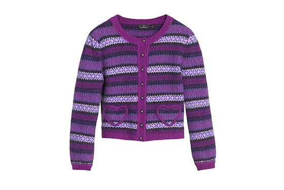 "Mulberry Fairisle cardigan, $454.99 <a href=""http://www.mulberry.com/#/storefront/c5704/5131/searchresults/"">online</a>."