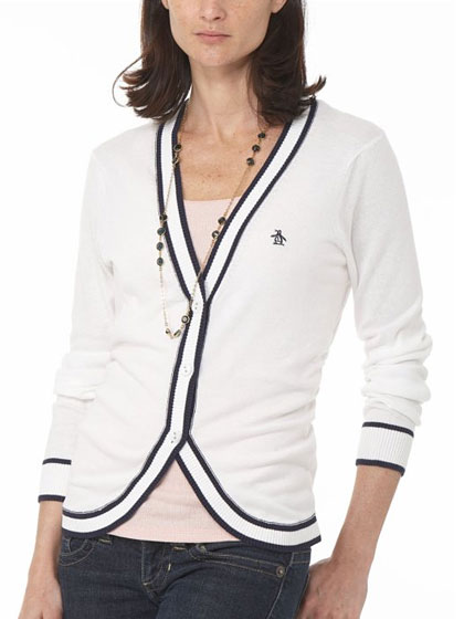 "Original Penguin piped cardigan, $89 at <a href=""http://nymag.com/listings/stores/original_penguin/"">Original Penguin</a> or <a href=""http://www.originalpenguin.com/bin/venda?ex=co_wizr-locayta&template=wz_locayta&pageno=1&perpage=12&collate=ivtype%3Aatrxcolor%3Aprice%3Apdxtsleevelength%3Apdxtpantstyle&refine_sort_alph=&fieldrtype=type&termtextrtype=invt&typertype=exact&typekeywordsearch=keyword&termtextkeywordsearch=cardigan"">online</a>."