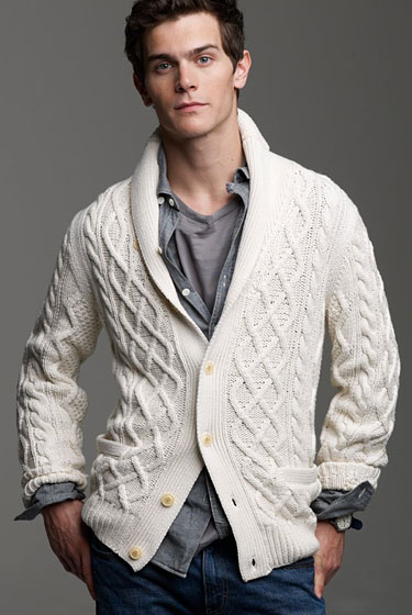 "J.Crew Anchorage shawl-collar cardigan, $128 at <a href=""http://nymag.com/listings/stores/j_crew00/"">J. Crew</a> or <a href=""http://www.jcrew.com/mens_category/sweaters/cotton/PRDOVR%7E31312/31312.jsp"">online</a>."