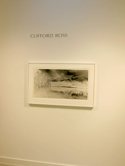 "The current Drawing Room show, on view through August 30, features <a href=""http://www.cliffordross.com/R1/R1-project.html"">Clifford Ross</a>'s black-and-white photographs. Ross's patented R1 camera gives his prints an extraordinary depth."