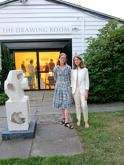 "Victoria Munroe and Emily Goldstein outside their East Hampton gallery, <a href=""http://www.drawingroom-gallery.com/"">the Drawing Room</a>. The space, opened in 2004, houses an incredible selection of work by contemporary artists, including Christopher Hewat, Caio Fonseca, Bryan Hunt, and Jean Pagliuso, as well as nineteenth-century naturalist watercolors and architectural and industrial design drawings. Victoria also has a gallery in Boston called <a href=""http://www.victoriamunroefineart.com/"">Victoria Munroe Fine Arts</a>."